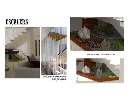 INTERIORISMO DE UNA VIVIENDA UNIFAMILIAR: Pasillos y vestíbulos de estilo  por Arq. Marynes Salas