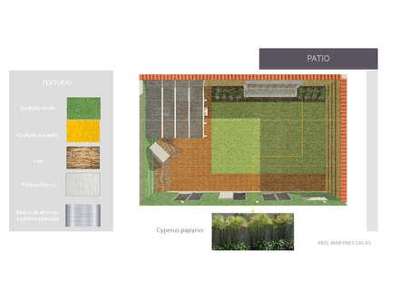 Jardin: Jardines de estilo moderno por Arq. Marynes Salas
