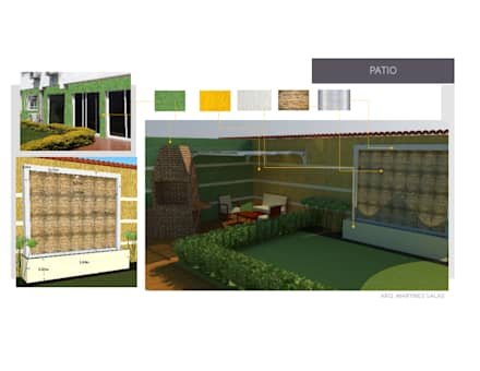 Jardin o Patio: Jardines de estilo moderno por Arq. Marynes Salas
