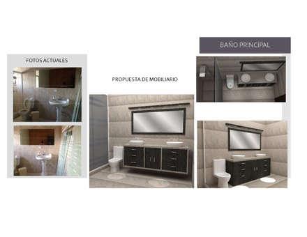 Mobiliario para Baño Existente: Baños de estilo moderno por Arq. Marynes Salas