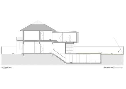 seccion longitudinal: Casas de estilo moderno por Thomas Löwenstein arquitecto