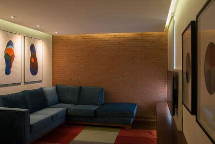 sala de estar: Estudios y biblioteca de estilo  por Thomas Löwenstein arquitecto