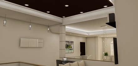 : Salas / recibidores de estilo minimalista por Simon Lopez Diseños 3D