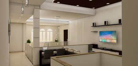 : Salas de entretenimiento de estilo minimalista por Simon Lopez Diseños 3D