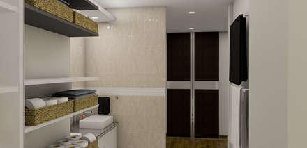 : Baños de estilo minimalista por Simon Lopez Diseños 3D