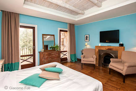 Aquapetra Resort & Spa, Telese Terme (BN): Camera da letto in stile in stile Coloniale di Giacomo Foti Photographer