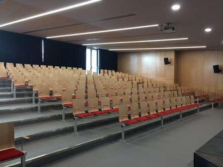 Colégio João Paulo II: Salas multimédia minimalistas por Alberto Lobo Gonçalves, arquitecto