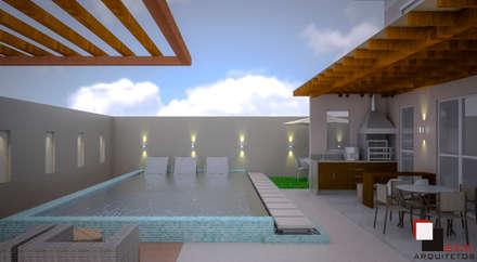 Piscina: Piscinas modernas por SCK Arquitetos