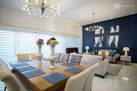 A856: Comedores de estilo moderno por UV Arquitectos