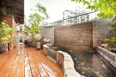 仰‧初相:  庭院 by 芸采創意空間設計-YCID Interior Design