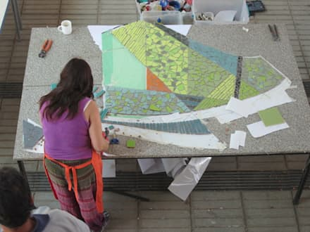 MOSAICO MURAL: Paredes y pisos de estilo moderno por MOSAICO CONTEMPORANEO