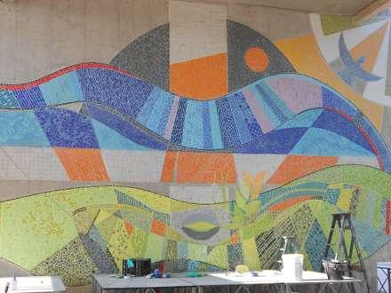 MOSAICO MURAL : Paredes y pisos de estilo moderno por MOSAICO CONTEMPORANEO