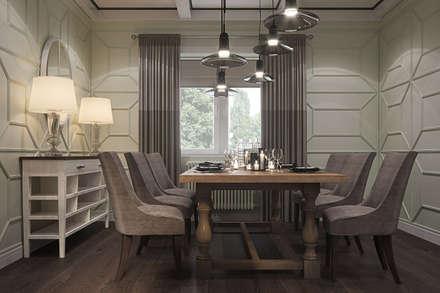 Загородный дом под г.Владимиром: Столовые комнаты в . Автор – Elena Potemkina