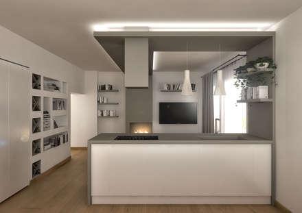 Proposta di Restyling Zona Giorno Appartamento a Pescara: Cucina in stile in stile Moderno di Luigia Pace Architetto