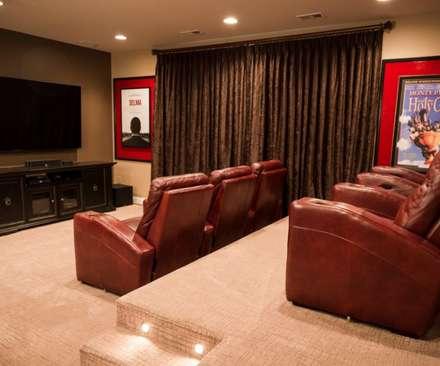 classic Media room by Lux Design Associates