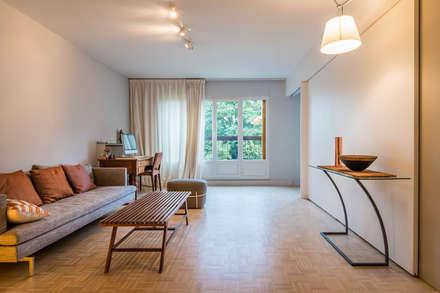Appartement Clairaut 55m2 de 2 pièces: Salon de style de style Moderne par Dominique Paolini Design