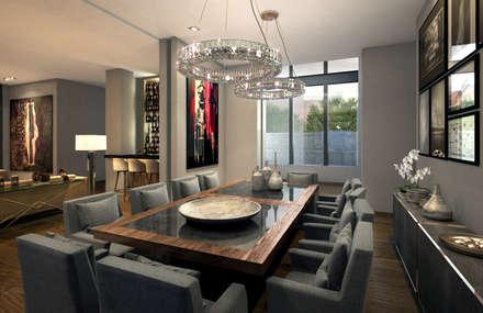minimalistic Dining room by VA STUDIO