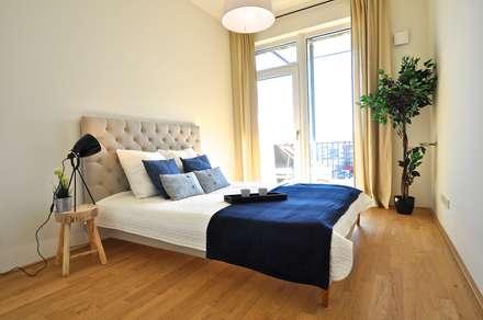 Maritim und männlich: industriale Schlafzimmer von Karin Armbrust - Home Staging