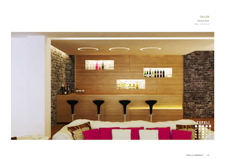 moderne Wijnkelder door Tepeli İç Mimarlık