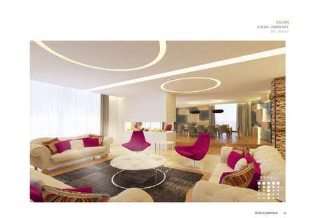 Tepeli İç Mimarlık – Sultan Makamı Konakları - Çengelköy: modern tarz Oturma Odası