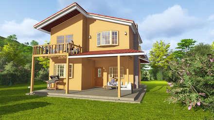 Casas de estilo  por gechamul