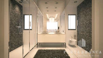 Master Suite, Luanda: Casas de banho modernas por Porta Branca
