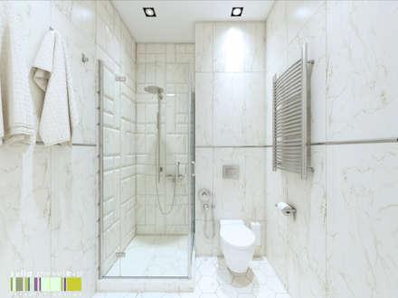 minimalistic Bathroom by Мастерская интерьера Юлии Шевелевой