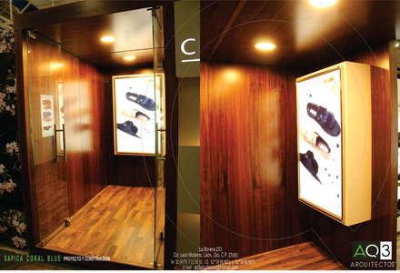 CORAL BLUE : Salas multimedia de estilo moderno de AQ3 Arquitectos