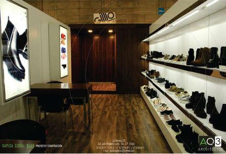CORAL BLUE: Salas multimedia de estilo moderno de AQ3 Arquitectos
