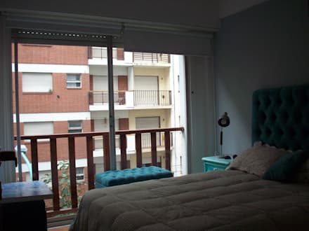 Dormitorio: Dormitorios de estilo moderno por JIEarq