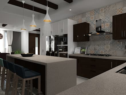 COCINA : Cocinas de estilo moderno por Residenza by Diego Bibbiani