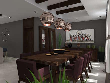 ESPEJOS EN COMEDOR: Comedores de estilo moderno por Residenza by Diego Bibbiani