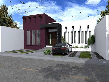 FACHA DIA : Casas de estilo moderno por Residenza by Diego Bibbiani