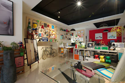 Offices & stores by 一葉藍朵設計家飾所 A Lentil Design