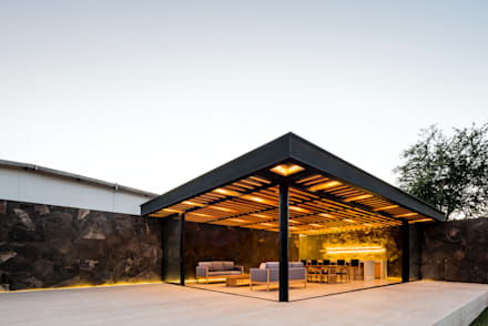 Terraza Destilería: Terrazas de estilo  por 1540 Arquitectura