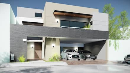 Fachada principal: Casas de estilo moderno por nuk arquitech
