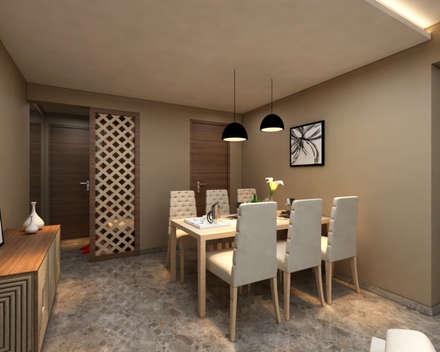 INTERIOR: modern Dining room by Midas Dezign