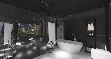 Edda İstanbul Proje Mimarlık – F Residence İstanbul: minimal tarz tarz Banyo