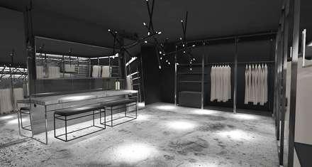 Edda İstanbul Proje Mimarlık – F Residence İstanbul: minimal tarz tarz Giyinme Odası