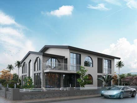 ACS Mimarlık – ACS Mimarlık, İzmir Narlıdere Villa Projesi: modern tarz Evler