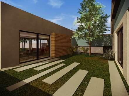 Patio interior: Jardines de estilo moderno por Estudio Pauloni Arquitectura