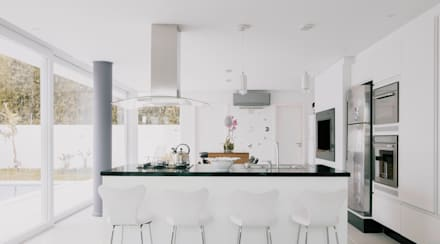 Espaço Gourmet: Cozinhas minimalistas por Rafael Grantham Arquitetura