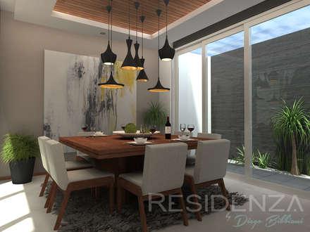 casa lr 365 comedores de estilo moderno por residenza by diego bibbiani - Comedores Modernos