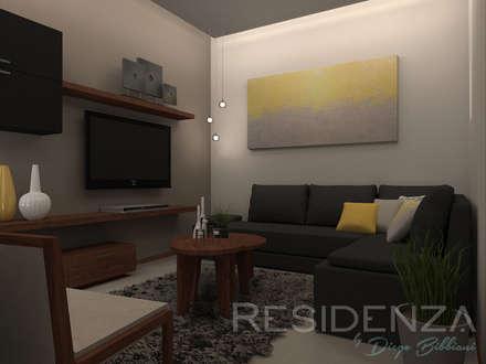 modern Media room by Residenza by Diego Bibbiani