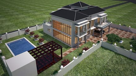 Trishur villa: modern Houses by Gurooji Design