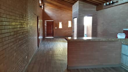 rustic Dining room by EKOa Empreendimentos Sustentáveis