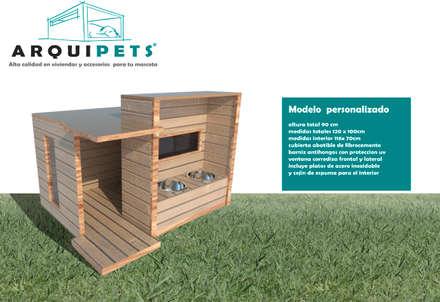 Vivienda Mascota modelo mediterraneo: Terrazas  de estilo  por Arquipets