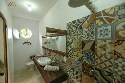 Baños de estilo colonial por Mariana Chalhoub