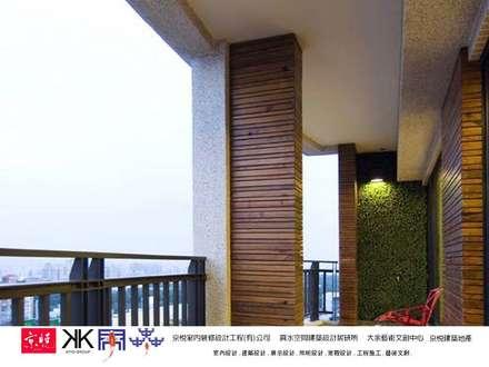 京悅設計  -  敬業麗明廖公館:  花園 by 京悅室內裝修設計工程有限公司 真水空間建築設計居研所 King Yue Interior Design & Construction Co.,Ltd. Beautyest Space Architectural Design Institute