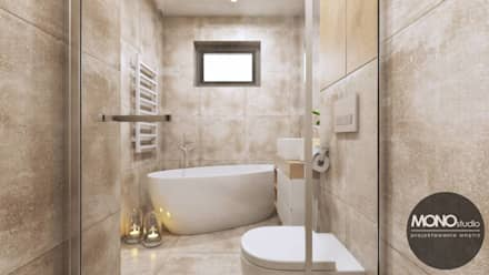 Łazienka w jasnych kolorach: styl , w kategorii Łazienka zaprojektowany przez MONOstudio